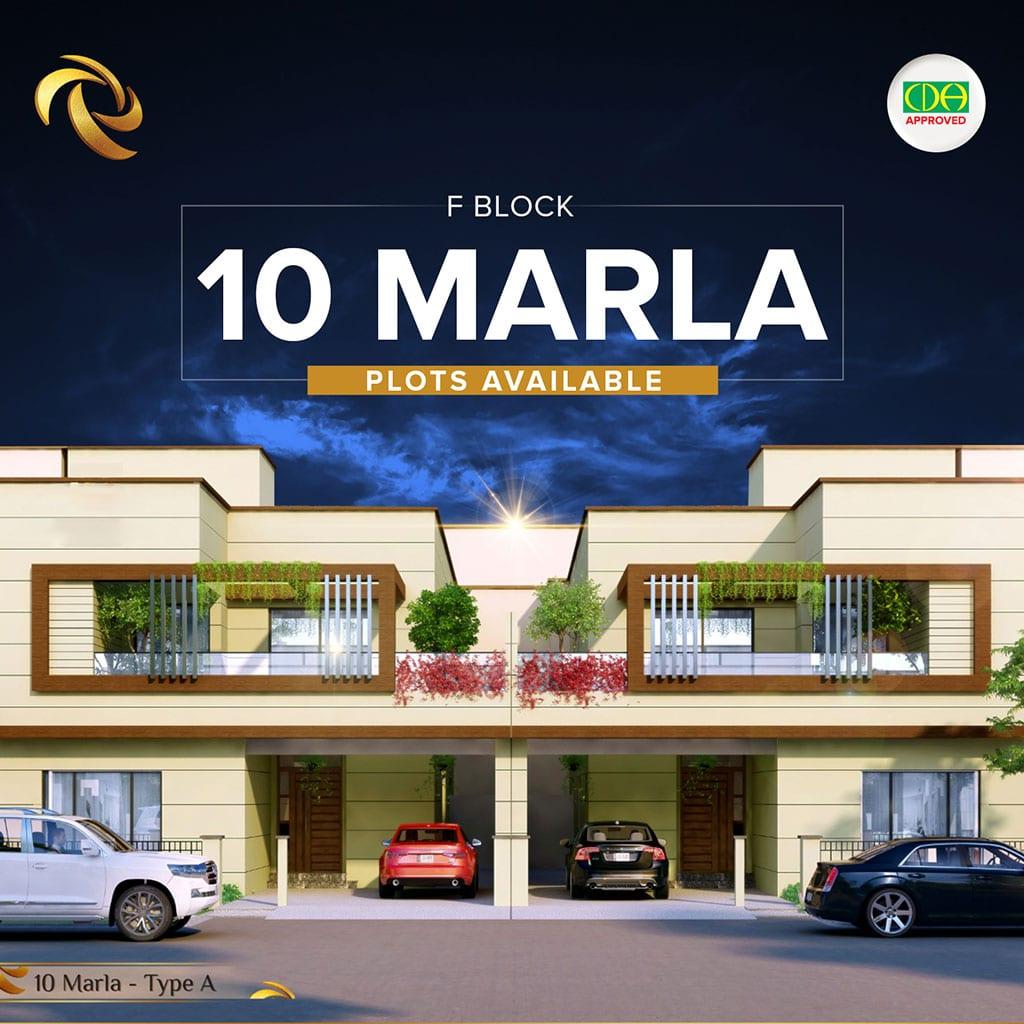 10 marla f Block